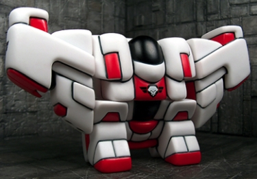 Heavy Armored Rig White Skull Wing Division - Red