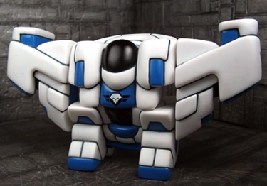Heavy Armored Rig White Skull Wing Division - Blue