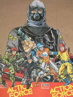 Action Force Store Display Cardboard